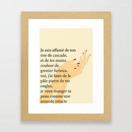 Poèmes 2 Framed Art Print
