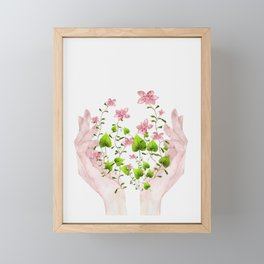 Blooming Hands Framed Mini Art Print