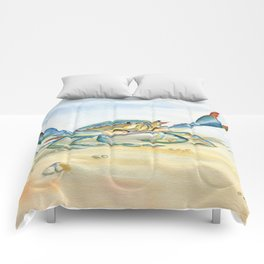 Colorful Blue Crab Comforters