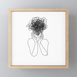 Migraine - White Framed Mini Art Print