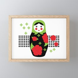 Pop-art Russian Doll Matryoshka Framed Mini Art Print