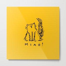 Miao! Metal Print