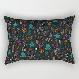 Ocean Fossils Rectangular Pillow
