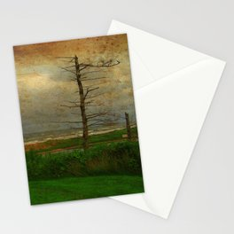 Landscape   Desolate Beach   Stormy Seascape   PEI Canada   Nadia Bonello Stationery Cards