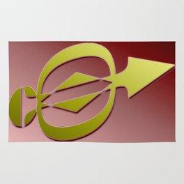 Golden arrow Rug