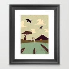 Z is for Zebra Framed Art Print