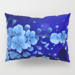 Cherry blossom, blue colors Pillow Sham