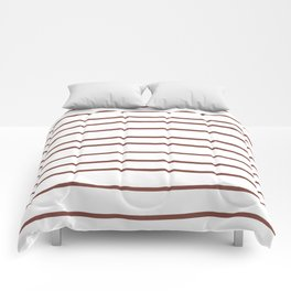 Inspired by Dunn Edwards Spice of Life DET439 Hand Drawn Horizontal Lines on White Comforters