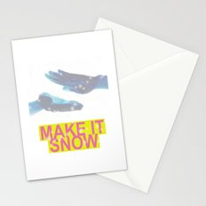 make it snow Stationery Cards