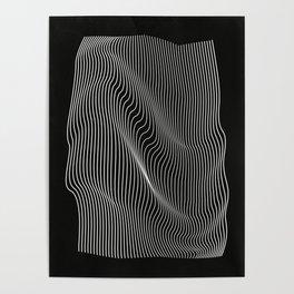 Minimal curves black Poster