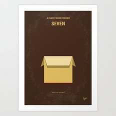 No233 My Seven minimal movie poster Art Print
