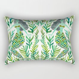 Kelp Forest Mermaid – Green Palette Rectangular Pillow