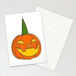 Pumpkin Unicorn Halloween Kids scary disguise gift idea kids Stationery Cards