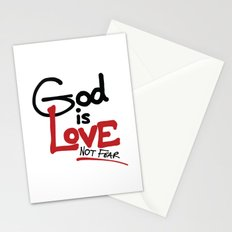 God Is Love...Not Fear. Stationery Cards