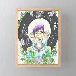 Head in the Stars Framed Mini Art Print