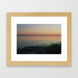 Baltic sea in a pinhole camera Framed Art Print