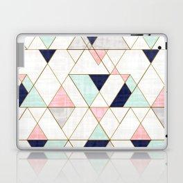 Mod Triangles - Navy Blush Mint Laptop & iPad Skin