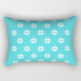 Scandinavian / Robin's Egg Blue + White Rectangular Pillow