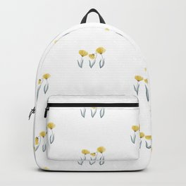 Spring Flower Trio Yellow  Backpack