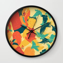 And A Little Girl Who Only Wished To Fly Wall Clock