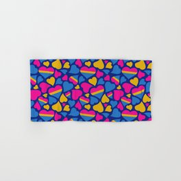 Pan Pride Hearts Pattern Hand & Bath Towel