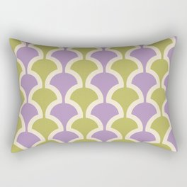Classic Fan or Scallop Pattern 434 lavender and Olive Green Rectangular Pillow
