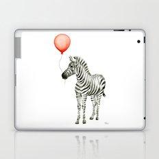 Baby Zebra Whimsical Animal with Red Balloon Nursery Art Laptop & iPad Skin