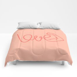 Love Is The Power (color version) Comforters