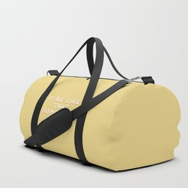 """It be like that sometimes"" Vintage Yellow Type Duffle Bag"