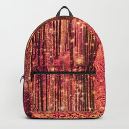 Magical Forest Pink Living Coral Peach Backpack