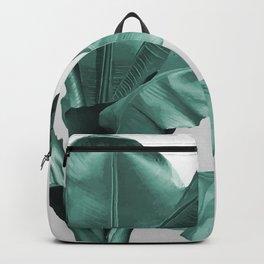 Big Banana Leaves - turquoise  Backpack