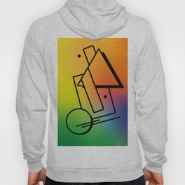 Abstract 80's Memphis Style Hoody