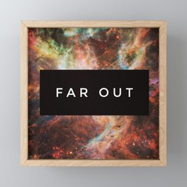 FAR OUT Framed Mini Art Print