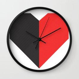 heart 50/50 Wall Clock