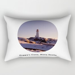 Peggy's Cove Sunset with Text Rectangular Pillow