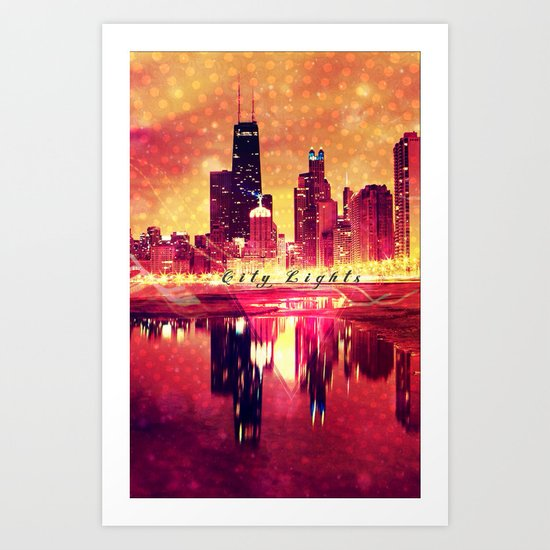 City Lights - for Iphone Art Print