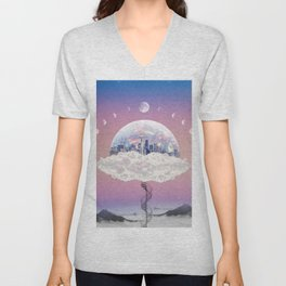 CITY OF PASTEL DREAMS IV Unisex V-Neck