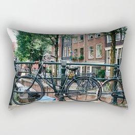 Bicycles in Amsterdam Rectangular Pillow
