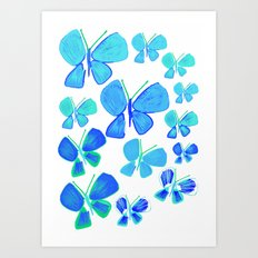 butterflies, butterfly print, butterfly illustration, butterfly pattern, art, print, design,  Art Print