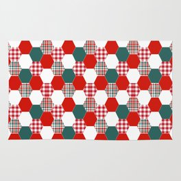 Christmas quilt red and green cute gifts home decor for the holidays Rug