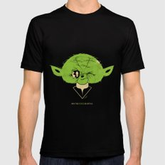 StarWars May the Force be with you (green vers.) Mens Fitted Tee Black MEDIUM