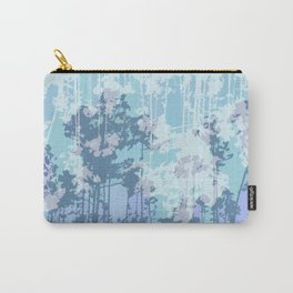 Cold Winter Forest Pattern Carry-All Pouch