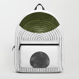 Green mid century modern Backpack