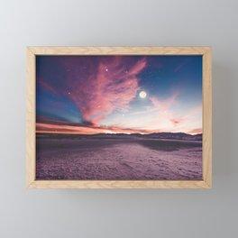 Moon gazing Framed Mini Art Print