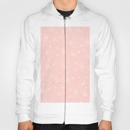 Cute girly hand drawn abstract cat face on pastel pink Hoody