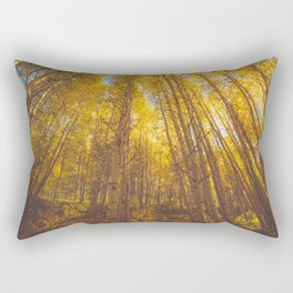 Autumn trees and yellow leaves Rectangular Pillow