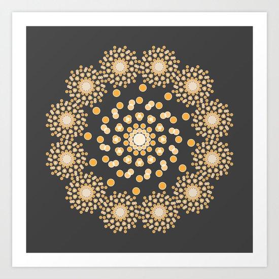 Atom B4 - Grey Art Print