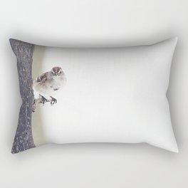 Sparrow on a Branch Rectangular Pillow
