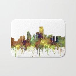 Jersey City Skyline - Safari Buff Badematte