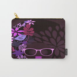 Afro Divva Magenta Lavender Eggplant Carry-All Pouch